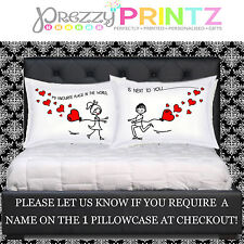 PERSONALISED PILLOWCASES WEDDING VALENTINES CHRISTMAS GIRLFRIEND BOYFRIEND GIFT