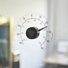 Transparent Round Outdoor Window Thermometer Temperature Weather Station Tool