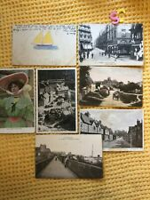 More details for joblot of 7 antique mixed landscapes and actress postcards