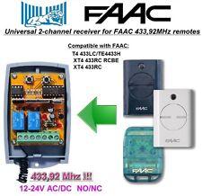 FAAC 433LC, TE4433H, XT4 433RC, RCBE compatibile universale 2-canali ricevitore