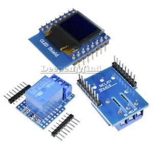 WeMos D1 Mini 1CH Relay Shield 0.66 inch OLED I2C 5/12V Wifi for ESP8266 Arduino