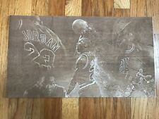 Michael Jordan image engraved on birch plywood with laser engraver