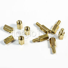 Us Stock 40pcs M3 3mm Male Female Brass Standoff Spacer Pcb Board Hex Screws Nut