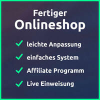 Fertiger Onlineshop modern professionell unkompliziert / mit Affiliate Programm