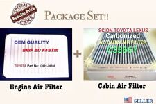COMBO SET CAMRY VENZA Engine & CARBONIZED Cabin Air Filter 07-17 A5649 C35667