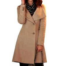 Belted Trench Coats Fashion Outerwear Winter Overcoat Indie Coat UK Sz 6-18 Beige 6