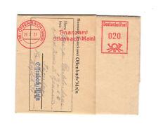 1951 Mahnschreiben Finanzamt Offenbach  Freistempler 20 Pf