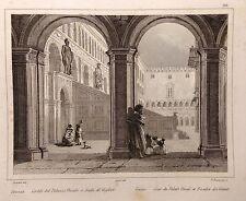 AUDOT INCISIONE IN ACCIAIO 1857 VENEZIA INTERNO DELLA CHIESA DI SAN MARCO