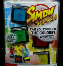 SIMON FLASH Electronic Family Game - 4 Rockin' Games in 1 - Memory BRAIN TEASERS