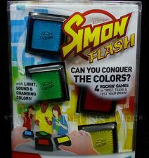 SIMON FLASH Electronic Family Game - 4 Rockin' Games in 1 - Memory BRAIN TEASERS