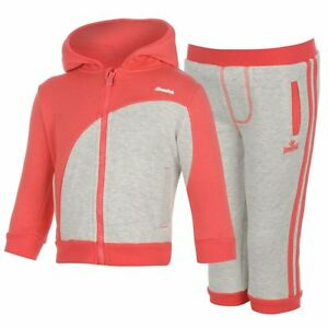 Lonsdale Baby Jogger Suit - Pink and Grey - 18-24mths - Brand new with tags