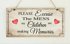 """Beautiful Shabby """" Children Making Memories """" Distressed Sign Plaque Chic Gift"""