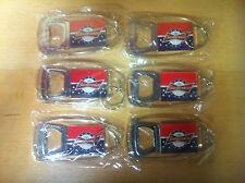 Budweiser Stars & Stripes Bottle Opener Key Ring - New & Free shipping- Set of 6