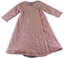 JACADI Girl's Rillons Pale Pink Bath Robe Size 4 Years $72 NWT