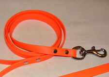 "Dog leash biothane leather , 6'x5/8"" BLAZE ORANGE!!!"