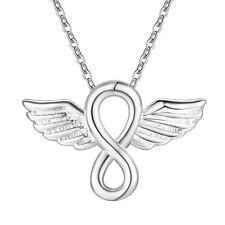 925 Silber Schutzengel Kreuz Anhänger Silber Engel Infinity Engeslrufer Kreuz