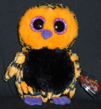 "TY BEANIE BOOS - HAUNT the 6"" HALLOWEEN OWL - MINT with MINT TAGS"