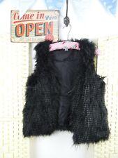 FAUX FUR lined shaggy cute  boho/festival jacket/gilet  XS JACKET142
