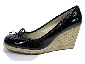 Coach Ireland Espadrilles Patent Wedge Heels Womens 8 B