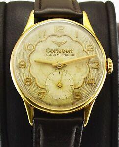 Cortébert 1950-1959 Mens Watch TCDD Railroad 739 cal. Handwinding Gold plated