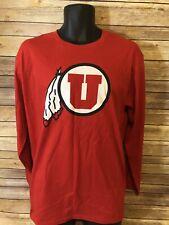 Fanatics University of Utah Utes Long Sleeve Shirt Size Large Mens Red NEW NWT
