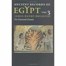 Ancient Records of Egypt: VOL. 3: THE NINETEENTH DYNASTY by University of Illinois Press (Paperback, 2001)