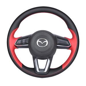For Mazda 3 Axela CX-4 CX-5 CX30 Car Hand-stitch Steering Wheel Cover