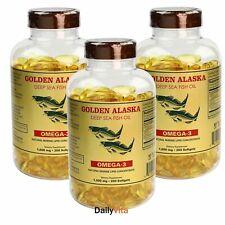3 x 200sfotgels Alaska Deep Sea Fish Oil Omega-3, EPA DHA, FRESH, Made In USA