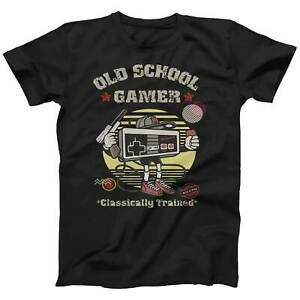Gaming T Shirt Old School Gamer Retro Video Game Arcade Console T-shirt Gift