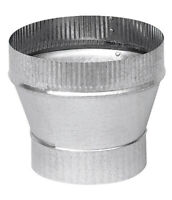 Imperial  5 in. Dia. x 7 in. Dia. Galvanized Steel  Stove Pipe Increaser