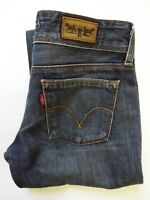 LEVI'S 570 JEANS WOMEN'S STRAIGHT FIT W28 L32 DARK BLUE STRAUSS LEVP120