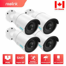 4x POE 5MP Wired Security IP Camera Outdoor HD Night Vision Mic Reolink RLC-410