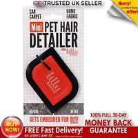 Mini Pet Hair Lilly Brush Detailer Clean Carpet Upholstery Roof Liner Delicate