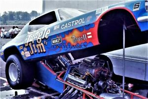 1972 Jungle Jim Liberman Chevy Camaro NHRA Funny Car Drag Racing Pits 8x12 Photo