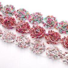 10 Shabby Chiffon floral flower trim Blue, pink, purple - millinery,hair,crafts