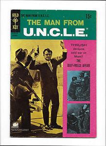 "THE MAN FROM U.N.C.L.E. #20  [1968 GD-VG]  ""THE DEEP-FREEZE AFFAIR"""