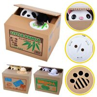Creative Doggy Stealing Coins Box Cat Piggy Bank Storage Money Case Kids Gift