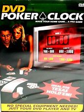 DVD Poker Clock Pro Game Texas Hold'em Poker Tournament Game Free Ship! New!