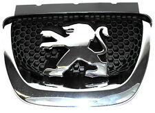 Peugeot 308 Front Bonnet Grille Chrome Lion Logo Badge New Genuine 7810S5