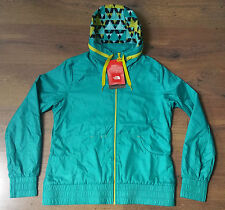 NORTH FACE WOMENS GREEN WATERPROOF BREATHABLE HOODED CYCLING JACKET COAT MEDIUM