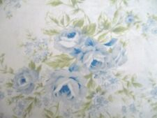Simply Shabby Chic Pretty Blue Roses Sheet or Fabric