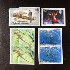 Lot de 6 timbres de Polynésie Française - années diverses - encore sur frag J14