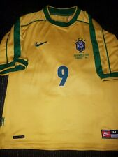 Authentic Ronaldo Brazil 1998 WC Jersey Shirt Camiseta Real Madrid Barcelona M