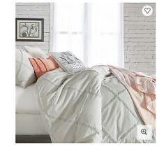 Peri Home Chenille Lattice Duvet Cover in Gray Size King