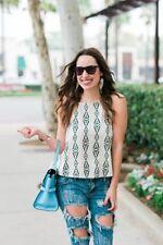 Tank, Cami Machine Washable Geometric 100% Cotton Tops & Blouses for Women