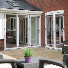 New Aluminium Bifold Patio Doors, 2 Panels, Inc Glass, White 10 Year Guarantee