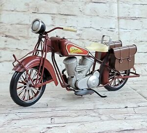 Metal Material Red Harley Davidson Indian Motorcycle Model Use Decorative Decor