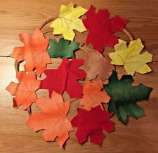 "Autumn Leaves Cut-Out Table Placemat Runner 16"" table linen"