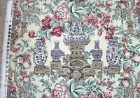 New Braemore Textile Floral & Pottery Design Upholstery Home Decor Cotton Fabric