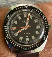 Vintage Diver 4ATM Prim Sport Humberto 17 Jewels CSSR